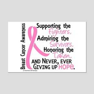 SupportAdmireHonor10 Breast Cancer Mini Poster Pri