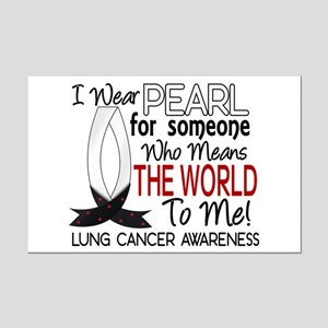 Means World To Me 1 Lung Cancer Shirts Mini Poster