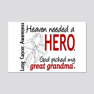 Heaven Needed a Hero Lung Cancer Mini Poster Print