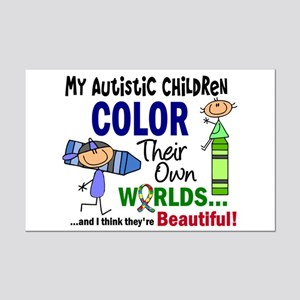 Colors Own World Autism Mini Poster Print