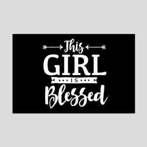 Girl is Blessed Mini Poster Print