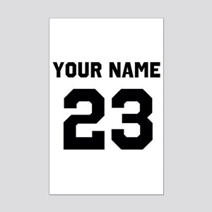 Customize sports jersey number Mini Poster Print