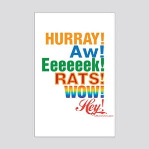 Interjections! Mini Poster Print