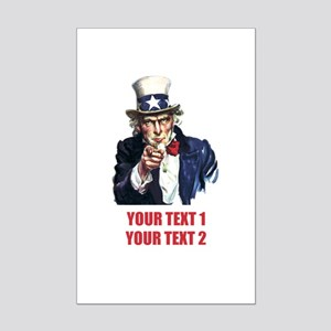[Your text] Uncle Sam 2 Mini Poster Print