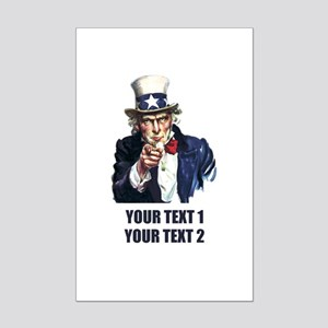 [Your text] Uncle Sam Mini Poster Print