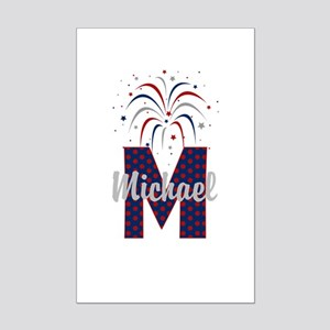 4th of July Fireworks letter M Posters