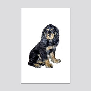 Cocker Spaniel (black-tan) Mini Poster Print