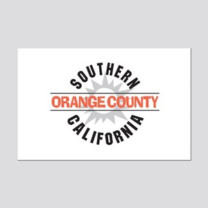 Orange County California Mini Poster Print