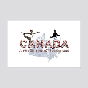 Canada Winter Sports Mini Poster Print