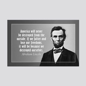 Abe Lincoln Quote on America Mini Poster Print