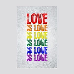 Love is Love is Love Mini Poster Print