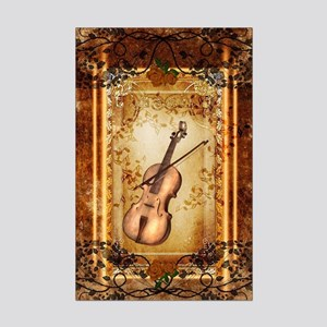 Wonderful violin on a frame Posters