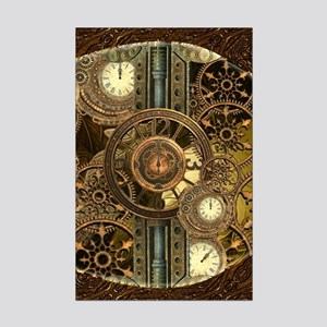 Steampunk, awessome clocks with gears Posters