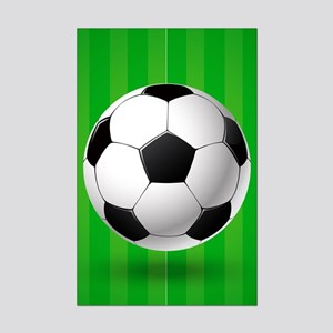 Football Ball And Field Poster Print (Mini)
