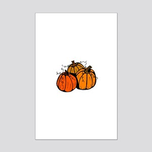 Three Pumpkins Mini Poster Print
