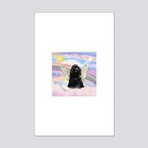Cocker Angel in Clouds Mini Poster Print