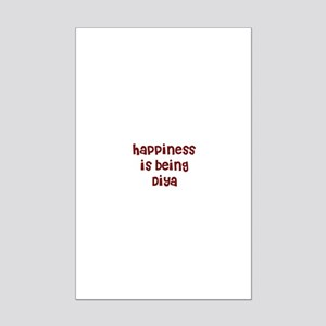 happiness is being Diya Mini Poster Print