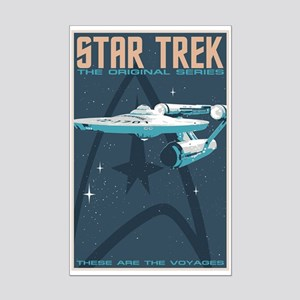 Retro Star Trek: TOS Poster Mini Poster Print
