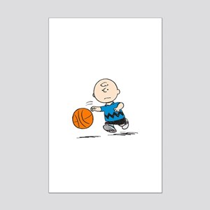 Basketballer Brown Mini Poster Print