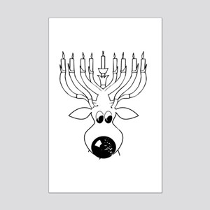 Merry Christmas and Hanukkah ~ Mini Poster Print