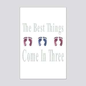 best things come in three Mini Poster Print