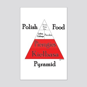 Polish Food Pyramid Mini Poster Print