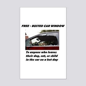 Free Busted Car Window Posters Mini Poster Print