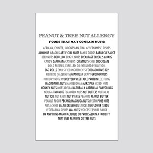Nut Allergy Mini Poster Print