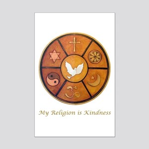 "Interfaith ""My Religion is Kindness"" Mini Poster P"