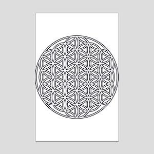 3bb4fba461c4 Flower of Life Single White Mini Poster Print