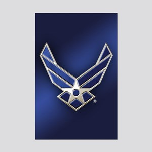4e3cc1e668a U.S. Air Force Logo Detailed Mini Poster Print