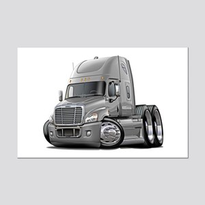 Freightliner Silver Truck Mini Poster Print