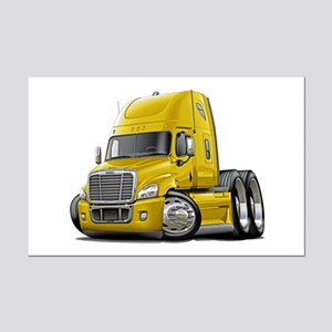 Freightliner Yellow Truck Mini Poster Print