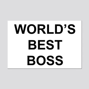 """World's Best Boss"" Mini Poster Print"