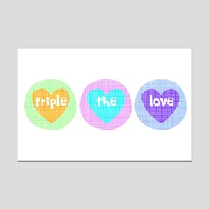 Triple The Love Mini Poster Print