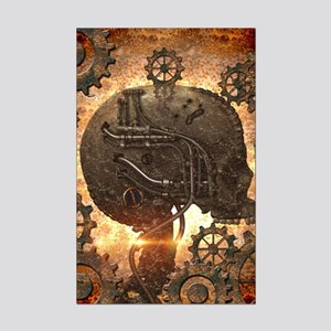 915e0f8e26605 Awesome steampunk Skull with gears Posters