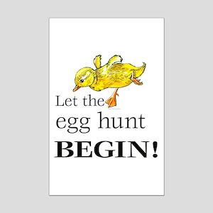 Easter egg hunt Mini Poster Print