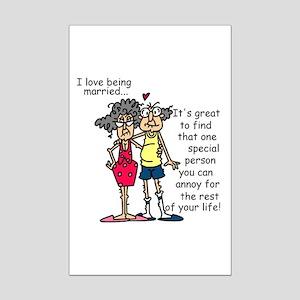 Marriage Humor Mini Poster Print