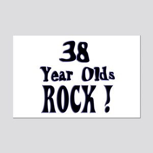 38 Year Olds Rock ! Mini Poster Print