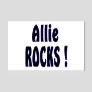 Allie Rocks ! Mini Poster Print