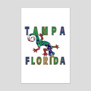 Tampa Florida Lizard Mini Poster Print
