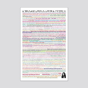 A Thousand Words is Worth IV Mini Poster Print