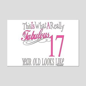 17th Birthday Gifts Mini Poster Print