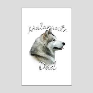 Malamute Dad2 Mini Poster Print