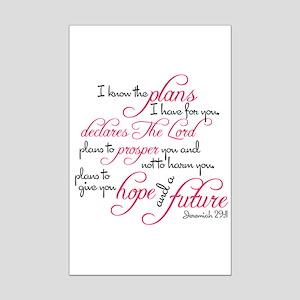 Jeremiah 29:11 Design Mini Poster Print