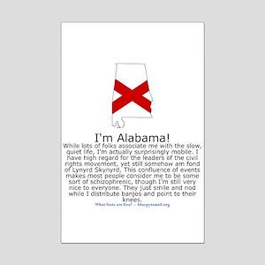 Alabama Mini Poster Print