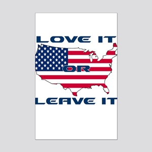 Love it or Leave it Mini Poster Print