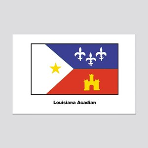 Louisiana Acadian Flag Mini Poster Print
