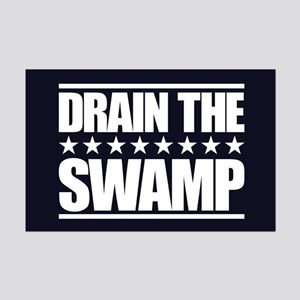 Drain the Swamp Mini Poster Print