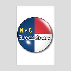 Greensboro North Carolina Flag Mini Poster Print
